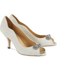 Benjamin Adams London - Lace Covered Dakota Peep Toe Shoes - Lyst