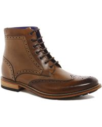 Ted Baker Sealls Brogue Boots - Brown