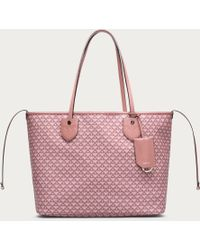 Bally Bernina Medium Women's Medium Coated Canvas Tote Bag In Rosehaze & Dusty Pink