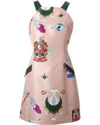 Mary Katrantzou Fenbot Mini Dress - Lyst