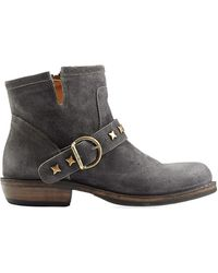 Fiorentini + Baker Studded Suede Ankle Boots - Lyst