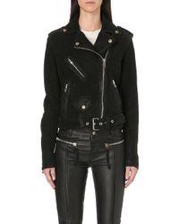 Diesel Lupus Leather Biker Jacket Black - Lyst