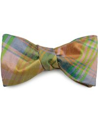 Louise & Zaid - Checked Silk Bow Tie - Lyst