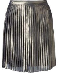 Tory Burch Silver Audra Skirt - Lyst