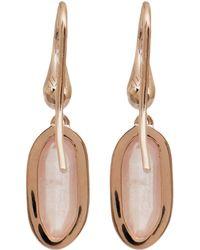 Monica Vinader Rose Gold-plated Quartz Vega Drop Earrings - Pink