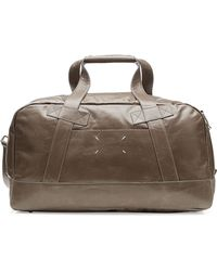 Maison Margiela Leather Weekend Tote brown - Lyst