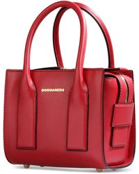 DSquared² Medium Leather Bag purple - Lyst