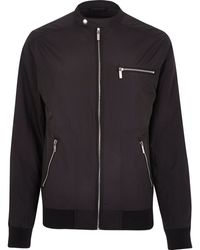 River Island Black Casual Bomber Jacket - Lyst