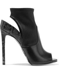 Daniele Michetti - Mori Cutout Elaphe And Glossed-leather Ankle Boots - Lyst