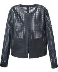 DROMe Laser-Cut Leather Jacket - Lyst