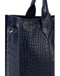 HUGO - 'valerie-c' | Leather Shopper With Detachable Strap - Lyst
