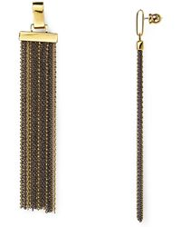 Diane von Furstenberg Fringe Drop Earrings - Metallic