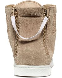 Enzo Angiolini Sovann Hightop Sneakers - Natural