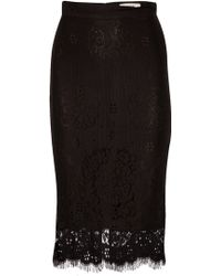 Lover Heather Pencil Skirt In Black black - Lyst