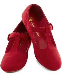 ModCloth Doll Over Town Flat in Red - Lyst