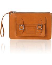 Cambridge Satchel Company The Saddle Leather Pocket Clutch - Lyst