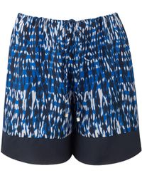 Amanda Wakeley Willis Silk Ripple Shorts - Lyst