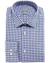Ike Behar Check Dress Shirt - Lyst