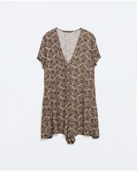 Zara Paisley Print Jumpsuit - Lyst