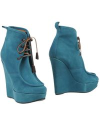 DSquared2 Teal Ankle Boots - Lyst