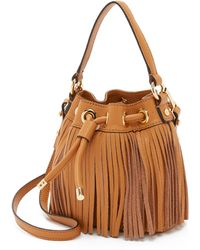 MILLY - Essex Small Fringe Bucket Bag - Lyst