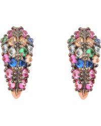 Katie Rowland - Stone Studded Fang Earrings - Lyst