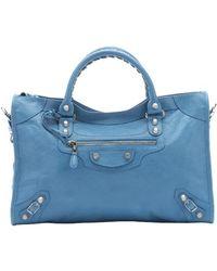 Balenciaga Indigo Blue Lambskin 'Giant 12 City' Convertible Tote Bag blue - Lyst