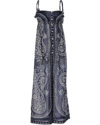 Coast Blue Long Dress - Lyst