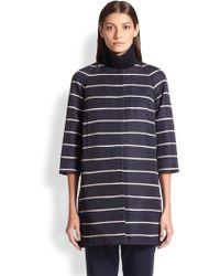 Max Mara Girante Striped Coat - Lyst