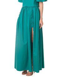 Tibi Satin Poplin Maxi Skirt - Lyst