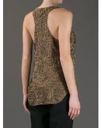 Ralph Lauren Purple Label Bead Embellished Vest Top - Brown