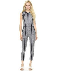 O'2nd - 1 By Heart Ring Jacquard Jumpsuit - Navy - Lyst