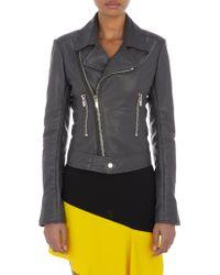 Balenciaga Leather Moto Jacket - Lyst