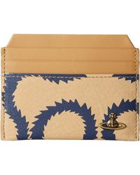 Vivienne Westwood Squiggle New Credit Card Holder - Blue