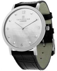 Tateossian - Rotondo Ultra Slim Watch With White Mother Of Pearl And Silver Colour Plating - Lyst