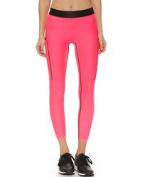 Monreal London | Cropped Booster Leggings - Neon Pink | Lyst