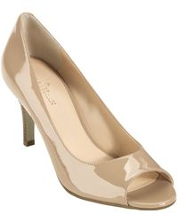 Cole Haan Lainey Patent Leather Open Toe Pumps - Lyst