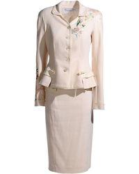 Dior Beige Women'S Suit - Lyst
