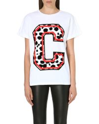 Être Cécile Cheetah Print Tshirt Whitered - Lyst
