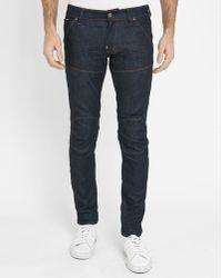 G-Star RAW | Blue Raw 5620 3d Super-slim Knee Patch Jeans | Lyst