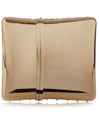Givenchy Minaudière Box Clutch gold - Lyst
