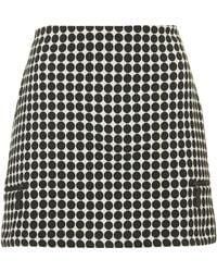 Topshop Womens Tall Monochrome Spot Skirt  Off White - Lyst