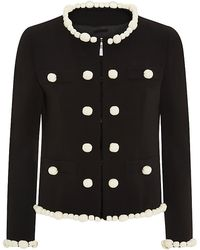 Moschino Cheap & Chic Pearl Rock Embellished Crepe Jacket - Lyst