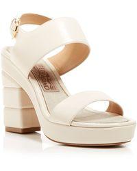 Ferragamo Open Toe Platform Sandals - Madrina Runway High Heel - Lyst