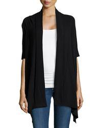 Donna Karan New York Ribbed Collar Half-sleeve Cozy - Lyst