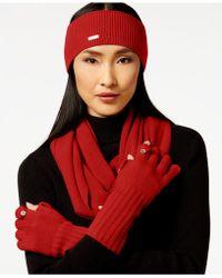 Calvin Klein Headband & Glove Set - Blue