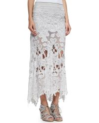 Donna Karan New York Macramé A-Line Skirt - Lyst