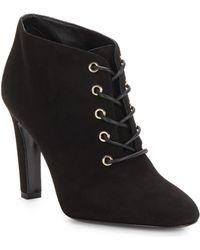 Diane von Furstenberg Skylar Suede Lace-Up Ankle Boots - Lyst