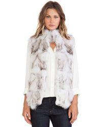 Jocelyn Blue Fox Fur Vest - Lyst
