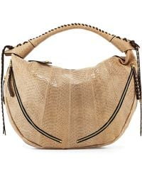 orYANY - Jasmine Anaconda-Print Leather Hobo Bag - Lyst